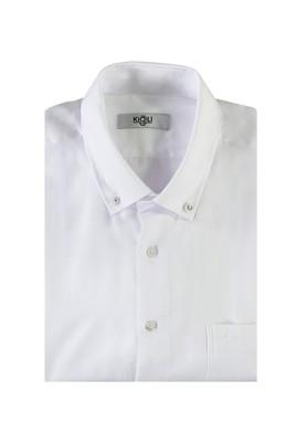 Erkek Giyim - BEYAZ XXL Beden Uzun Kol Regular Fit Oduncu Gömlek