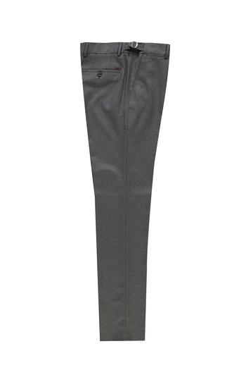 Erkek Giyim - Slim Fit Klasik Tokalı Pileli Yünlü Pantolon