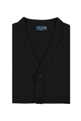 Erkek Giyim - SİYAH 4X Beden King Size Düz Hırka