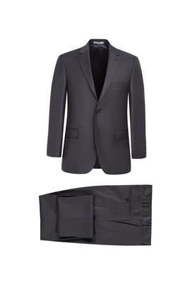 Erkek Giyim - ORTA FÜME 50 Beden Slim Fit Takım Elbise