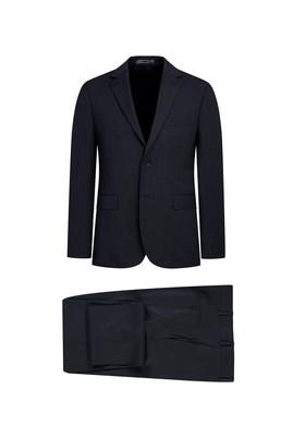 Erkek Giyim - SİYAH 48 Beden Klasik Desenli Takım Elbise