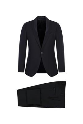 Erkek Giyim - SİYAH 48 Beden Slim Fit Şal Yaka Smokin / Damatlık