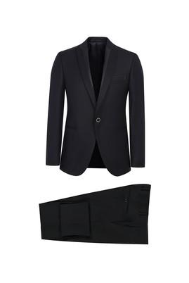 Erkek Giyim - SİYAH 52 Beden Slim Fit Şal Yaka Smokin / Damatlık