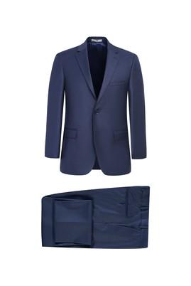 Erkek Giyim - ORTA PETROL 54 Beden Klasik Desenli Takım Elbise
