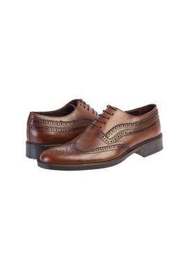 Erkek Giyim - AÇIK KAHVE 42 Beden Klasik Bağcıklı Ayakkabı