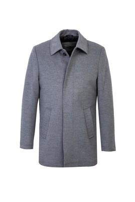 Erkek Giyim - AÇIK GRİ 50 Beden Bebe Yaka Kaban
