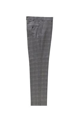 Erkek Giyim - ORTA GRİ 46 Beden Klasik Ekose Pantolon