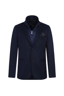 Erkek Giyim - KOYU LACİVERT 46 Beden Regular Fit Dik Yaka Ceket