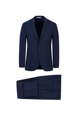 Erkek Giyim - KOYU LACİVERT 58 Beden Klasik Kuşgözü Takım Elbise