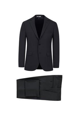 Erkek Giyim - KOYU FÜME 52 Beden Klasik Kuşgözü Takım Elbise