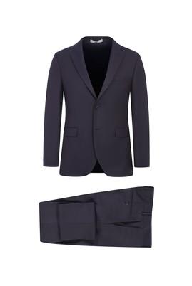 Erkek Giyim - KOYU BORDO 48 Beden Slim Fit Kuşgözü Takım Elbise