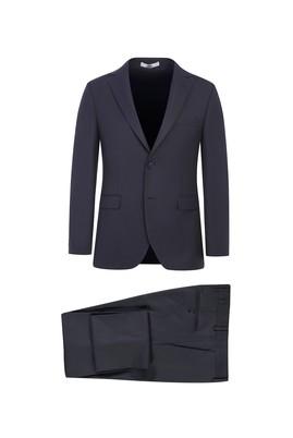 Erkek Giyim - KOYU YEŞİL 44 Beden Slim Fit Kuşgözü Takım Elbise