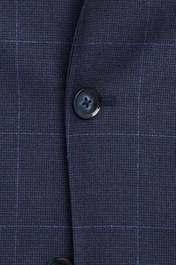 Erkek Giyim - Kareli Klasik Takım Elbise