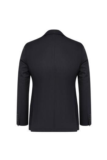 Erkek Giyim - Regular Fit Çizgili Takım Elbise