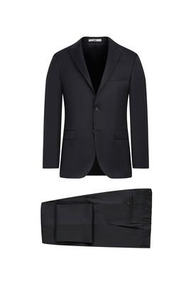 Erkek Giyim - KOYU ANTRASİT 48 Beden Regular Fit Çizgili Takım Elbise