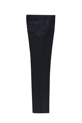 Erkek Giyim - AÇIK LACİVERT 52 Beden Slim Fit Kuşgözü Klasik Pantolon