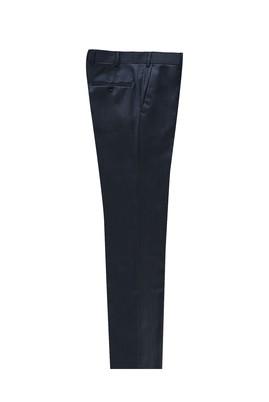 Erkek Giyim - KOYU MAVİ 52 Beden Slim Fit Kuşgözü Klasik Pantolon