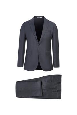 Erkek Giyim - AÇIK FÜME 50 Beden Slim Fit Yünlü Takım Elbise