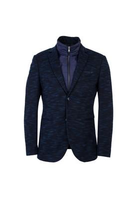 Erkek Giyim - KOYU LACİVERT 50 Beden Regular Fit Dik Yaka Ceket