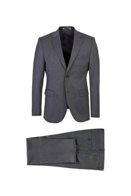 Erkek Giyim - ORTA GRİ 46 Beden Slim Fit Takım Elbise