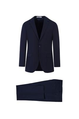 Erkek Giyim - KOYU LACİVERT 58 Beden Slim Fit Takım Elbise