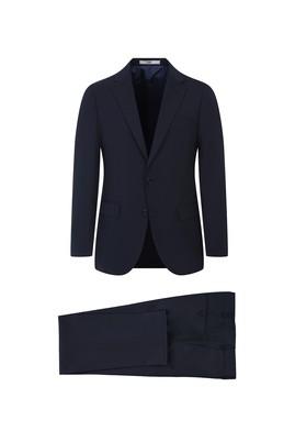 Erkek Giyim - SİYAH LACİVERT 50 Beden Yünlü Klasik Takım Elbise