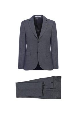 Erkek Giyim - SİYAH 54 Beden Desenli Klasik Takım Elbise