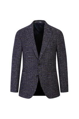 Erkek Giyim - KOYU KAHVE 54 Beden Desenli Klasik Ceket
