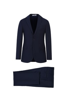 Erkek Giyim - ORTA LACİVERT 46 Beden Slim Fit Takım Elbise