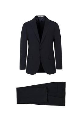 Erkek Giyim - ORTA ANTRASİT 54 Beden Yünlü Klasik Takım Elbise