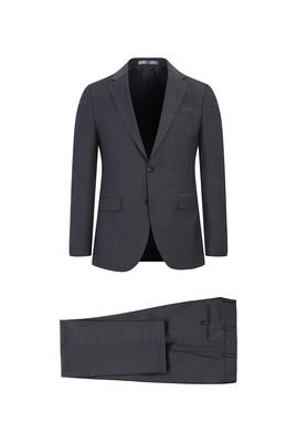 Erkek Giyim - AÇIK FÜME 50 Beden Yünlü Klasik Takım Elbise