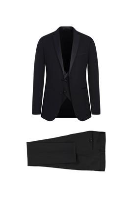 Erkek Giyim - SİYAH 48 Beden Slim Fit Mono Yaka Smokin / Damatlık & Set