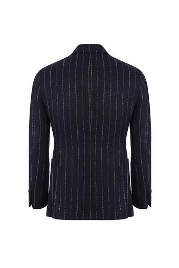 Erkek Giyim - Regular Fit Çizgili Ceket