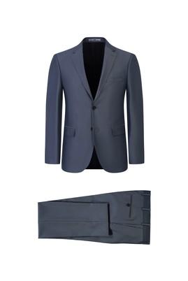 Erkek Giyim - AÇIK GRİ 48 Beden Kuşgözü Slim Fit Takım Elbise