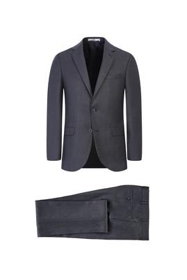 Erkek Giyim - AÇIK FÜME 54 Beden Slim Fit Takım Elbise