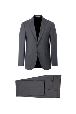 Erkek Giyim - ORTA FÜME 58 Beden Klasik Takım Elbise