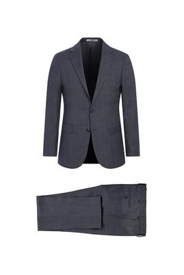 Erkek Giyim - AÇIK FÜME 66 Beden Yünlü Klasik Takım Elbise