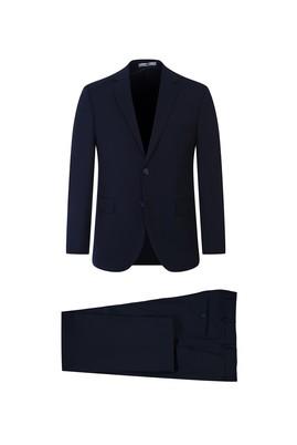 Erkek Giyim - KOYU LACİVERT 56 Beden Slim Fit Takım Elbise