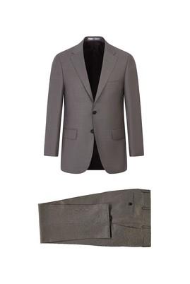 Erkek Giyim - AÇIK KAHVE 58 Beden Yünlü Klasik Takım Elbise