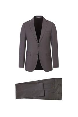 Erkek Giyim - AÇIK VİZON 48 Beden Yünlü Slim Fit Takım Elbise