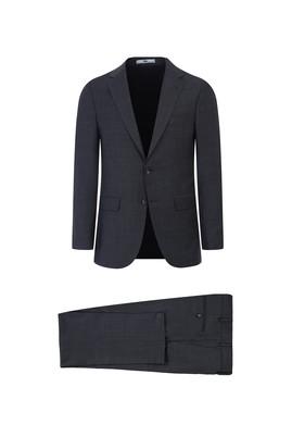 Erkek Giyim - SİYAH 58 Beden Yünlü Klasik Takım Elbise