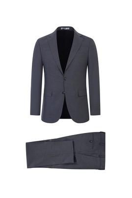 Erkek Giyim - AÇIK FÜME 54 Beden Yünlü Klasik Takım Elbise