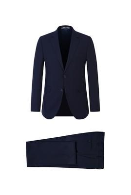Erkek Giyim - KOYU LACİVERT 54 Beden Slim Fit Takım Elbise