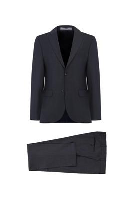 Erkek Giyim - KOYU FÜME 54 Beden Yünlü Klasik Takım Elbise