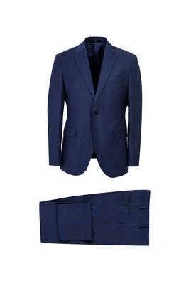 Erkek Giyim - AÇIK LACİVERT 52 Beden Yünlü Klasik Takım Elbise