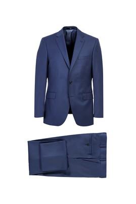 Erkek Giyim - KOYU MAVİ 52 Beden Yünlü Klasik Takım Elbise