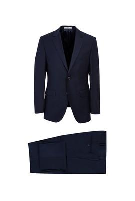 Erkek Giyim - KOYU LACİVERT 50 Beden Slim Fit Takım Elbise