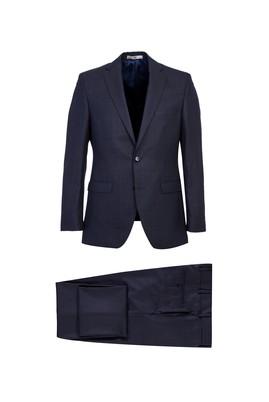 Erkek Giyim - MOR 64 Beden Yünlü Kareli Klasik Takım Elbise