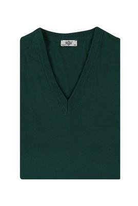 Erkek Giyim - AÇIK PETROL 3X Beden V Yaka Regular Fit Triko Kazak