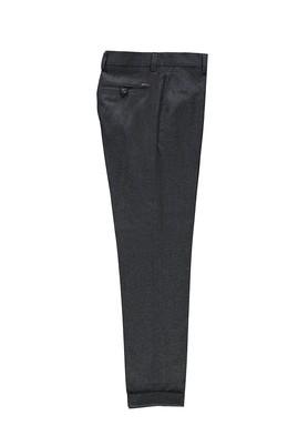 Erkek Giyim - KOYU FÜME 48 Beden Desenli Klasik Pantolon